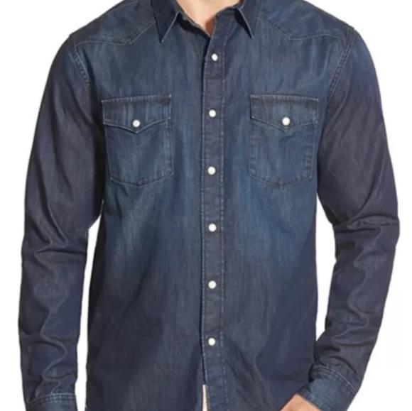 aca0c70742d9d4 Lucky Brand Other - Lucky Brand denim pearl snap long sleeve shirt